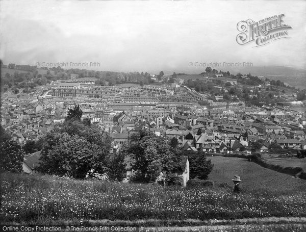 Photo of Newton Abbot, view from Wolborough Hill 1930