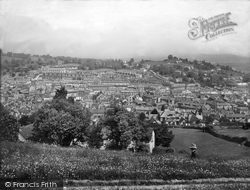 Newton Abbot, View From Wolborough Hill 1930