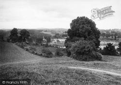 Newton Abbot, View In Fields 1922