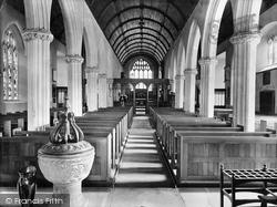 Newton Abbot, Wolborough Church Interior 1922