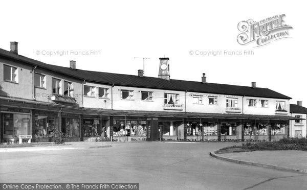 Photo of Newton Aycliffe, Neville Parade Shopping Centre c1955, ref. n70304
