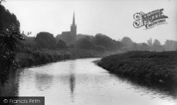 Newton On Ouse, Church From The River c.1955