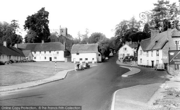 Newton St Cyres, the Village c1965