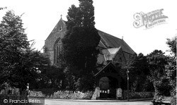Newton, St Peter's Church c.1955
