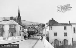 Newtown, Bryn Bank From Long Bridge c.1965