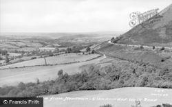Newtown, View From Llandrindod Wells Road c.1955