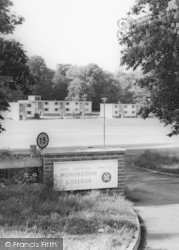 Nonington, College, The Entrance c.1955
