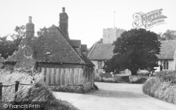 Nonington, The Church And Toll House c.1955