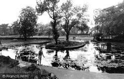 Normanton, Haw Hill Park, The Pond c.1955