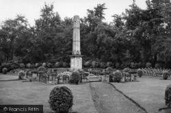 Haw Hill Park, War Memorial c.1955, Normanton