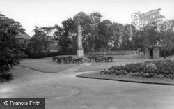 Haw Hill Park, War Memorial c.1965, Normanton