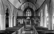 North Bovey, Church interior 1907