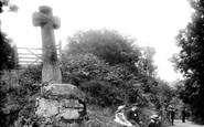 North Bovey, Cross at Hele Farm 1907