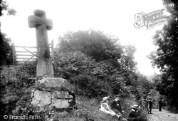 Cross At Hele Farm 1907, North Bovey