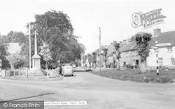 North Curry, Memorial And Church Road c.1960