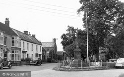 North Curry, The War Memorial c.1955