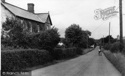 North Curry, Windmill Hill c.1955