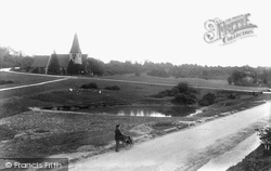 North Holmwood, St John's Church And Pond 1906