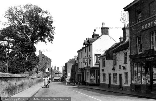 Photo of North Walsham, Church Street c1955, ref. n42019