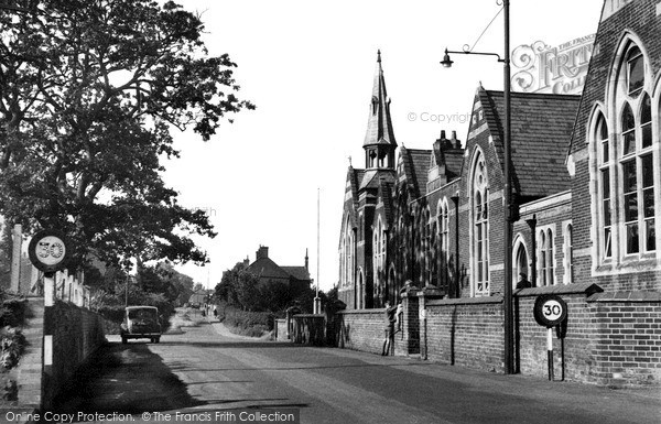 Photo of North Walsham, Hall Lane c.1955