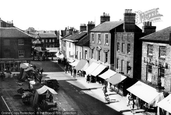 Photo of North Walsham, Market Place c1955, ref. n42020