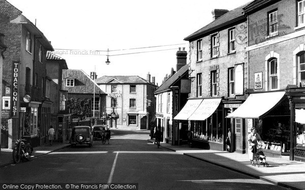 Photo of North Walsham, Market Street c1955, ref. n42024