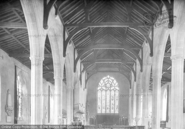 Photo of North Walsham, the Church interior 1921, ref. 70942
