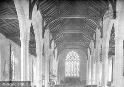 North Walsham, The Church Interior 1921