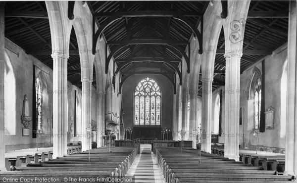 Photo of North Walsham, The Church Interior 1921