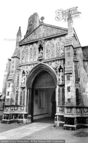 Photo of North Walsham, The Doorway, The Parish Church c.1955