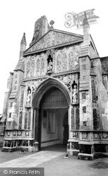 North Walsham, The Doorway, The Parish Church c.1955