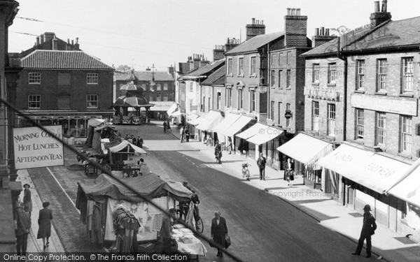 Photo of North Walsham, the Market Place c1955, ref. n42021