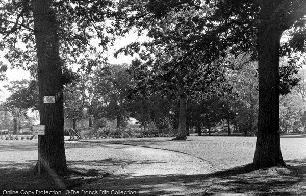 Photo of North Walsham, the Memorial Park c1955, ref. n42016