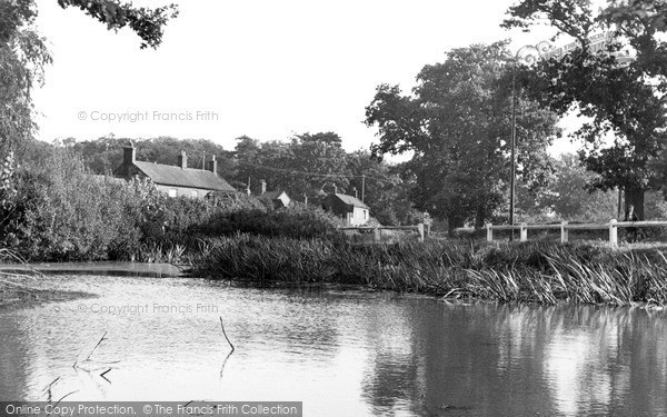 Photo of North Walsham, the Pond and Blue Bell Inn c1955, ref. n42004