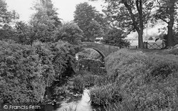 The Pack Horse Bridge And Stream c.1950, Northallerton