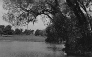 Northampton, Abington Park, The Lake c.1955