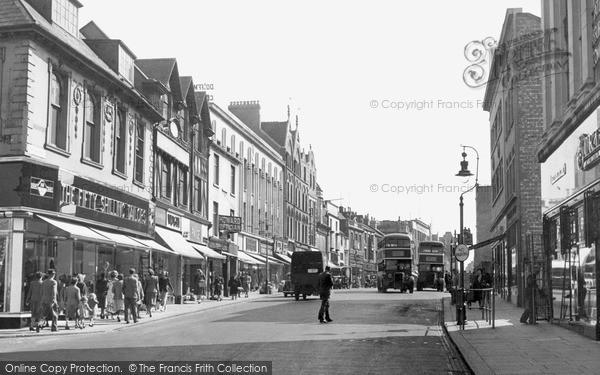 Northampton, Abington Street c1950