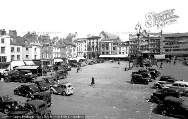 Photo of Northampton, Market Square c.1955