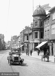 Northampton, Motor Car In Abington Street 1922