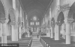 Northampton, St Peter's Church, Interior 1922