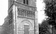 Northampton, St Peter's Church Norman Tower 1922
