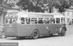 Northleach, Bus, Market Square c.1950