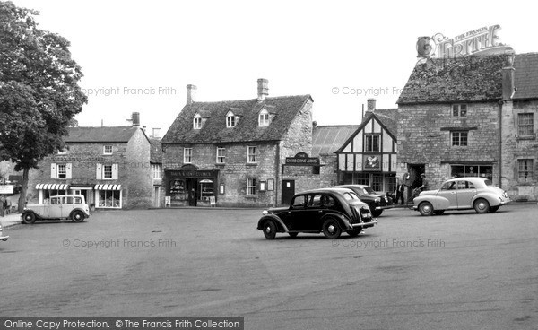 Photo of Northleach, Market Square c.1955