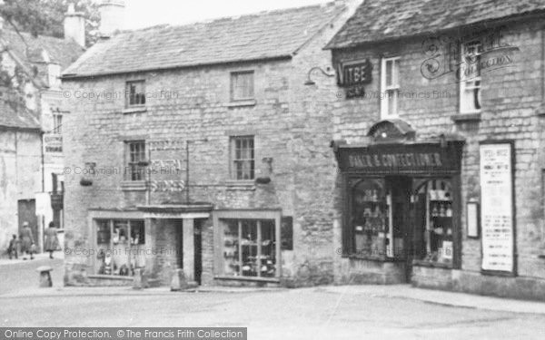 Photo of Northleach, Market Square Shops c.1950