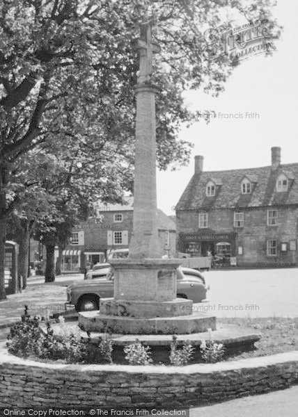 Photo of Northleach, Memorial, Market Place c.1960