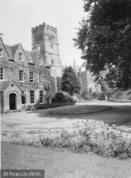 Northleach, The Rectory And Church Of St Peter And St Paul c.1960