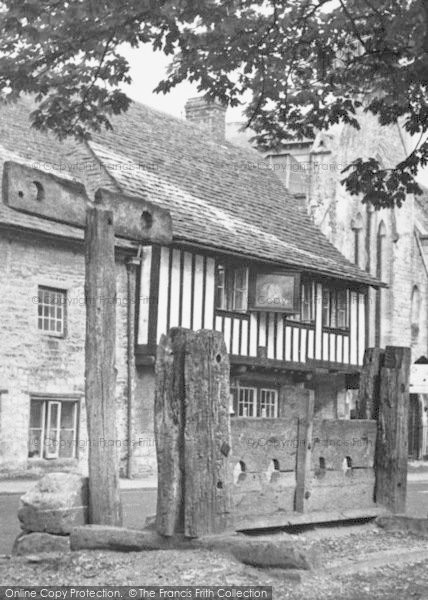 Photo of Northleach, The Stocks c.1955