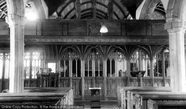 Northlew, St Thomas of Canterbury Church interior c1960
