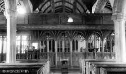 St Thomas Of Canterbury Church Interior c.1960, Northlew