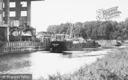 Northwich, A Boat On The River,  From Winnington Bridge c.1955